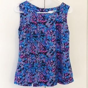 Boden sleeveless floral blouse